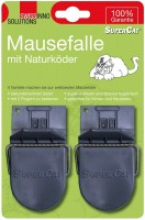 swissinno 2x mausefalle supercat mit naturk der die. Black Bedroom Furniture Sets. Home Design Ideas
