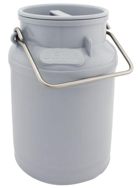 GEWA Milchkanne, 10 Liter, Ø22x35cm, aus Spezialkunststoff, mit Edelstahlhenkeln und Deckel