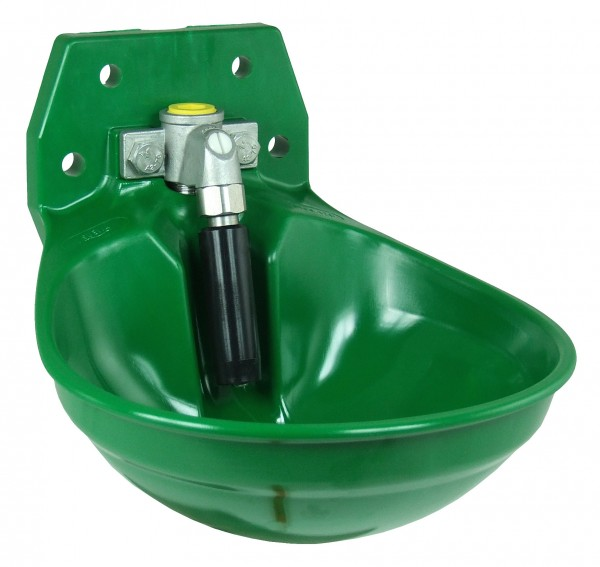 Suevia Tränkebecken Mod. 12P grün mit 3/4 Zoll Edelstahl-Ventil - 100.0129