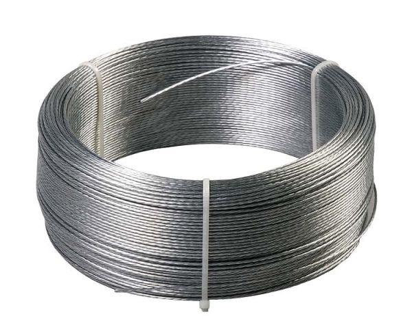 Drahtlitze 200m, 1,5mm, verzinkte Draht-Litze für lange Weidezäune und Elektrozäune