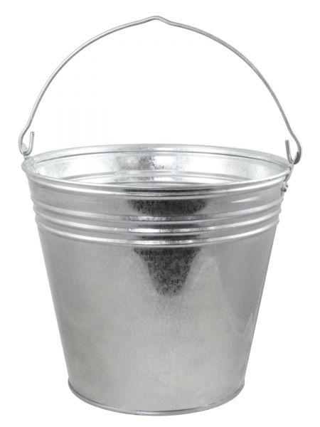 Zinkeimer Ø32x28cm, 15 Liter, Eimer aus verzinktem Metall, Dekoeimer, Pflanzeimer