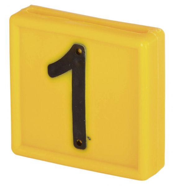 Nummernblock Standard, gelb, Block-Nummer: 1 (EINS)