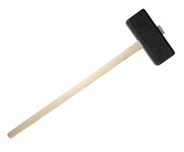 Kunststoffhammer 4kg mit Holzstiel (110cm), zum Einschlagen von Zaunpfählen