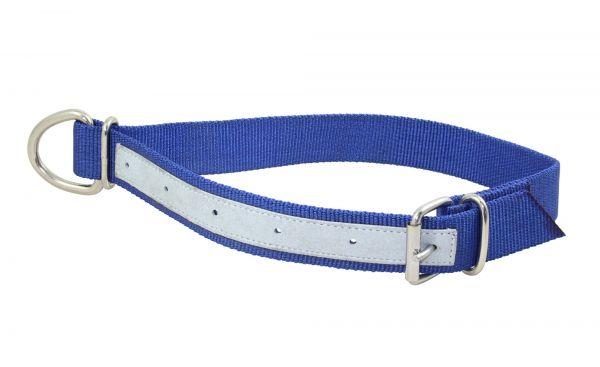 Trevira Kuhhalsband Nylon, lederverstärkt, mit Ring und Rollschnalle, Halsriemen für Kühe