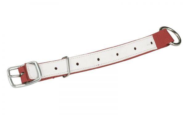 Halsriemen für Schafe und Ziegen, Rot, 60cm, verstellbares Halsband aus Nylon