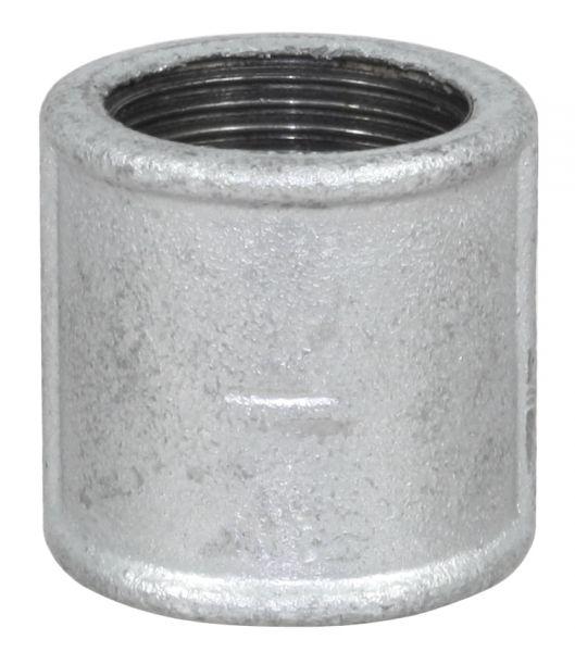 Temperguss Muffe, 1 Zoll IG-IG, mit durchgehendem Innengewinde, Nr. 270