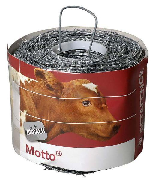 Motto® Stacheldraht 250m, 2 x 1,7mm, verzinkter Stacheldraht für Festzaunanlagen