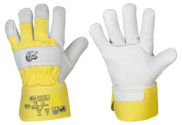 Stronghand® Winter-Arbeitshandschuhe EISBÄR Größe 9 (L), Rindvollleder-Handschuhe mit Stulpe