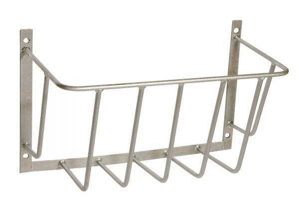 Heuraufe verzinkt, 50x40x20cm, Stababstand 80mm, stabile Futterraufe zur Wandmontage