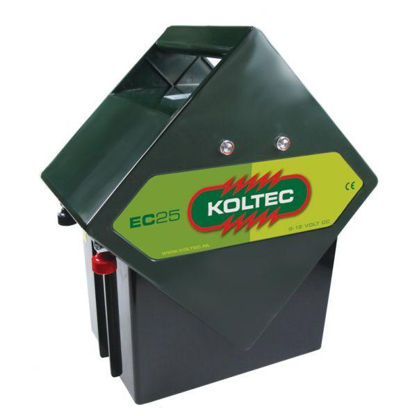 Koltec Weidezaungerät EC25 - 9V + 12V Batteriegerät für mobile Weidezäune