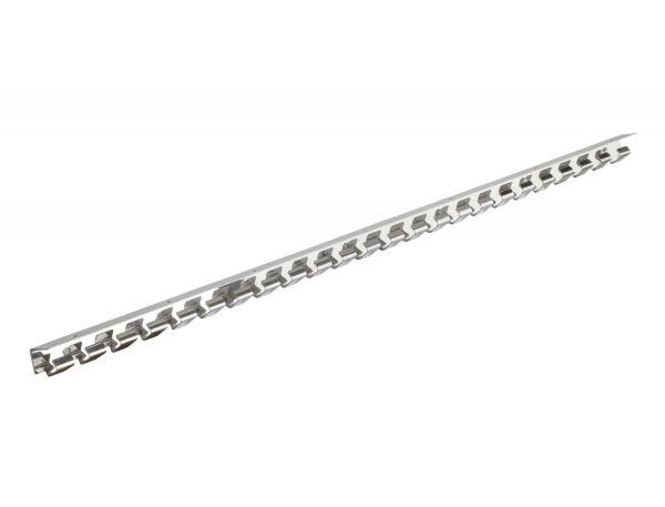 Hakenleiste 100cm, Edelstahl, zur Befestigung von PCV-Lamellenstreifen und Streifenvorhängen