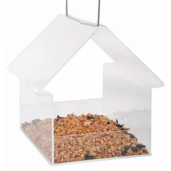 Esschert Design Vogelfutterhaus Acryl, hängend, Futterstation für Vögel, FB373