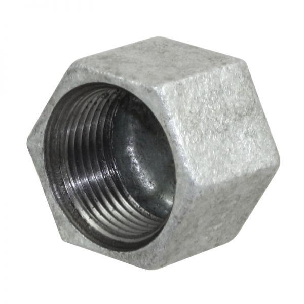 Temperguss Kappe, sechskant, 1 Zoll, mit Innengewinde, Nr. 300