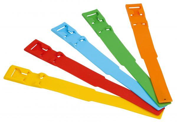 Fesselbänder zur Langzeit-Markierung, 37cm, Kunststoff, wiederverwendbare Markierungsbänder