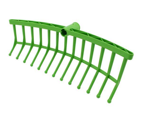 GEWA Futterhexe 40x13cm, grün, Futterrechen zur Zuteilung von Grünfutter, ohne Stiel