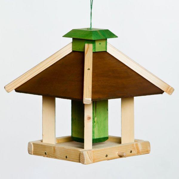 """SICA Futterhaus """"Halsbek"""" zum Aufhängen, Vogelhaus mit Silo 27x27x30cm"""