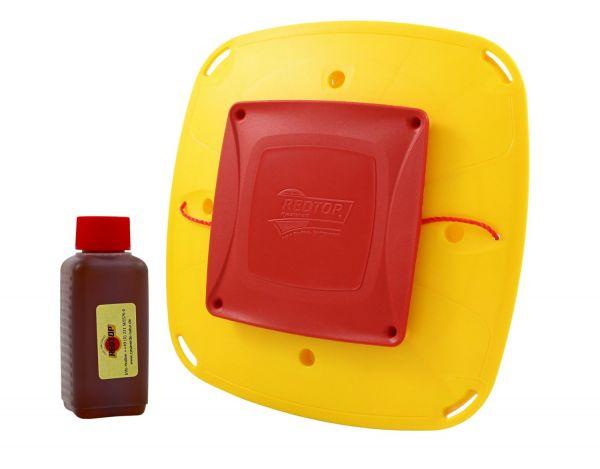 RedTop® Wespenfalle 3 Liter mit Lockstoff, Falle zur Wespenbekämfung, Wespenabwehr