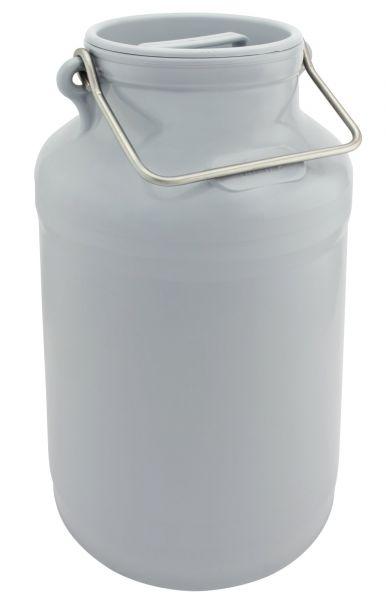 GEWA Milchkanne, 20 Liter, Ø27x48cm, aus Spezialkunststoff, mit Edelstahlhenkeln und Deckel