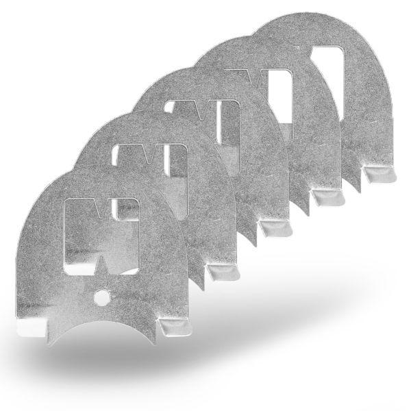 5x Luna® Plättchen für Wühlmaus-Zangenfalle, Auslöseplättchen, Köderplättchen