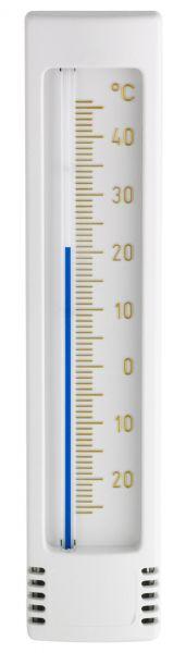 TFA Innen-Außen-Thermometer, weiß, analoges Thermometer zur Kontrolle der Temperatur, 12.3023.02