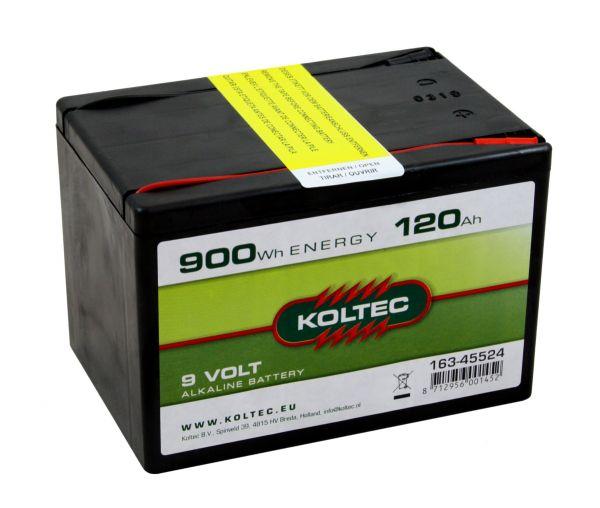 Koltec ALKALINE 120Ah - 9V, Weidezaunbatterie mit konstantem Spannungsverlauf