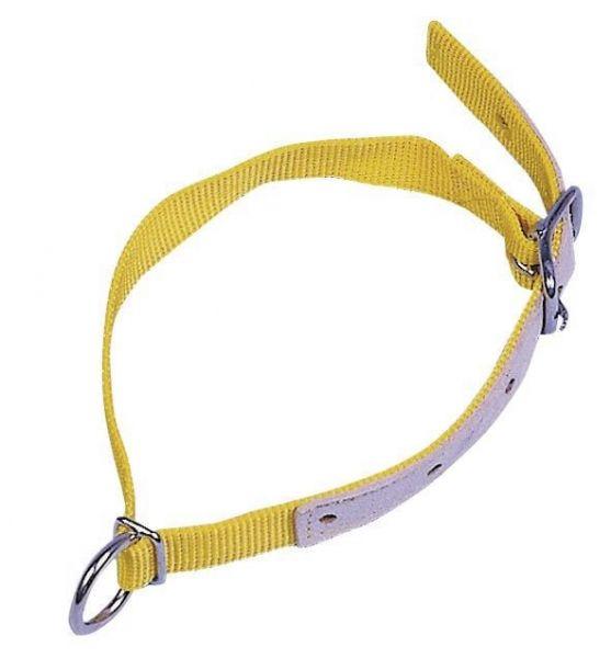 Halsriemen für Schafe und Ziegen, Gelb, 60cm, verstellbares Halsband aus Nylon