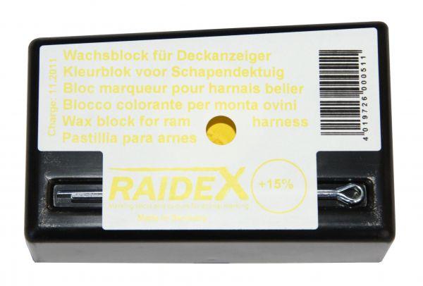 Raidex® Wachsblock GELB für Bocksprunggeschirr, Kreide für Deckanzeiger