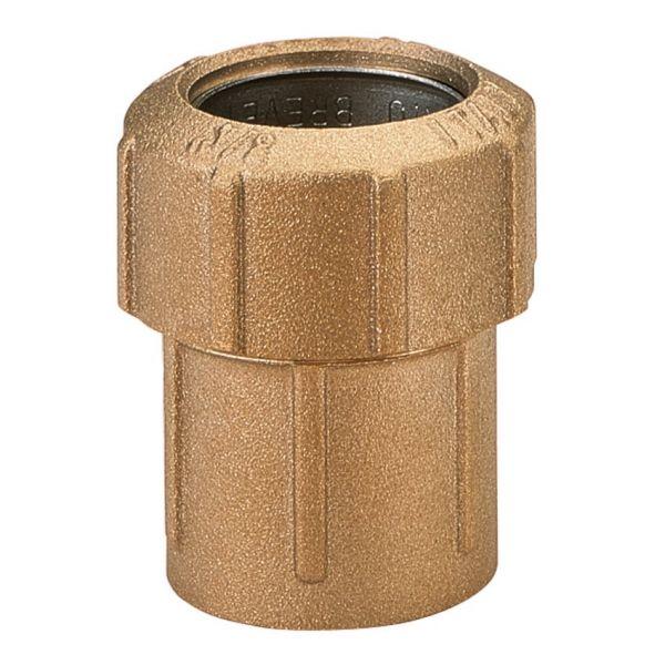 Messing-Verschraubung 1 Zoll IG, 32 x 2,9 mm, Klemmverbinder für PE-Rohre