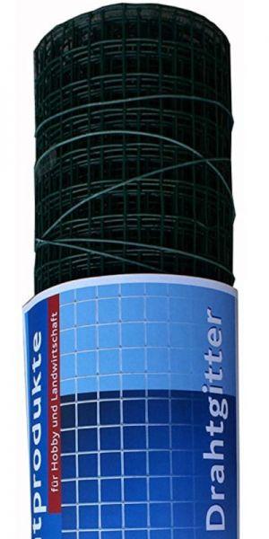hadra® 5m Punktgeschweißtes Gitter 12,7 x 0,90 x 500 mm, verzinkt, grün, Volierendraht, Drahtgitter