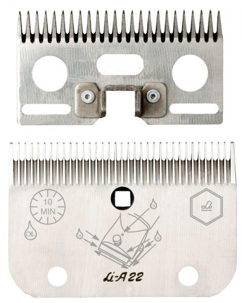 Lister Schermessersatz LI A22 mit 24+35 Zähnen, für die hautnahe Pferdeschur