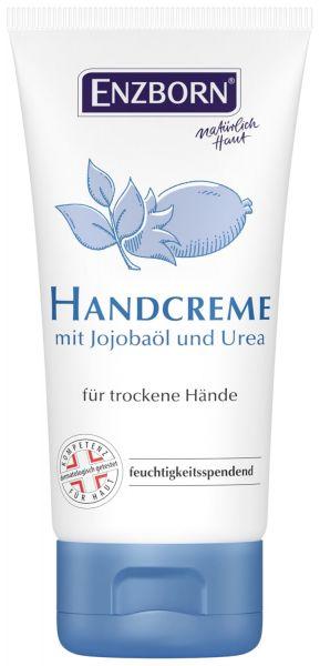 Enzborn® Handcreme 75ml Tube, Feuchtigkeitscreme mit Jojobaöl und Urea