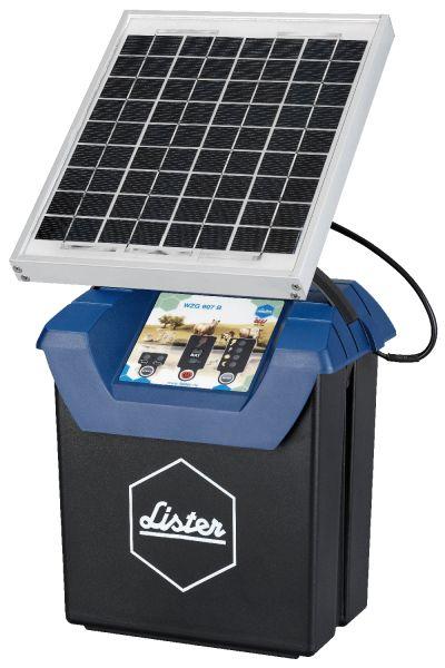 Lister Weidezaungerät WZG 9.07 S, 12Volt Akkugerät mit Solarpanel