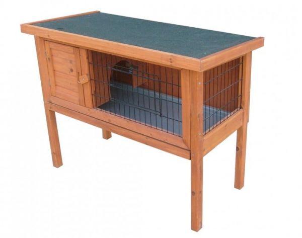 Kaninchenstall MUCKEL, Kleintierstall aus Tannenholz für Hasen, Kaninchen und Meerschweinchen
