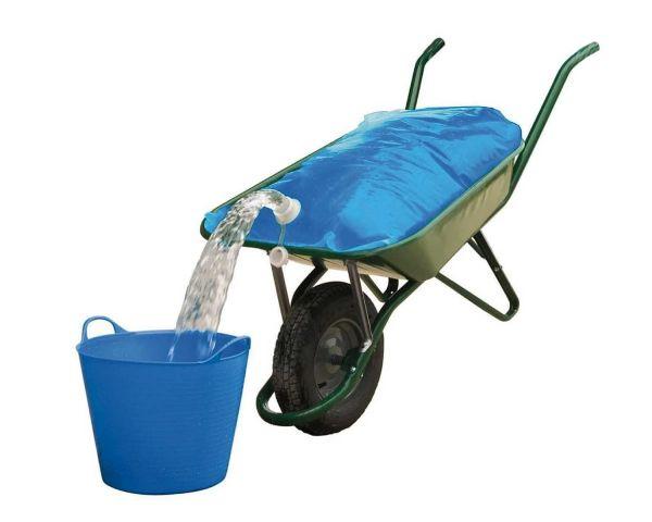 Wasser-Transportsack H2gOBag, 80 Liter, Wassersack für die Schubkarre, mit Anti-Rutsch-Matte