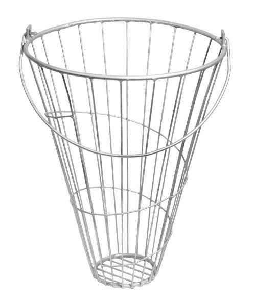 Futterkorb für Geflügel, verzinkt, Ø 380/140 x 500 mm, Grünfuttertrog für Hühner