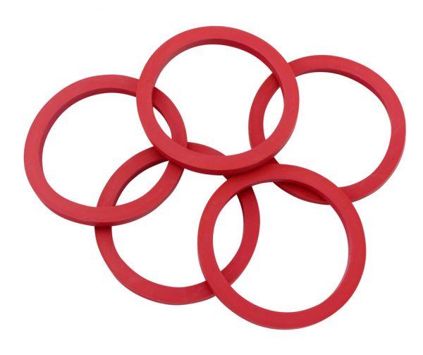 5x Dichtung Rot, 3,5mm, Gummidichtung für GEWA Tränkeeimer-Ventil, Kälbereimer