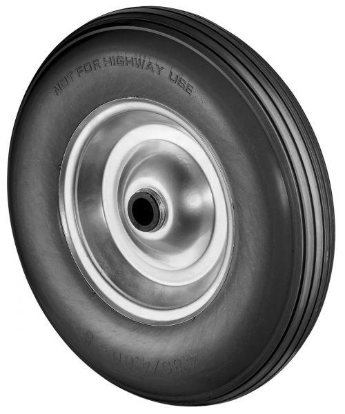 PU Sackkarrenrad Ø260mm (3.00-4), schwarz, Stahlfelge, Nabe Ø20mm, pannensicheres Rad