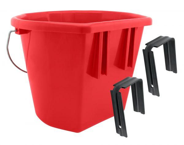 GEWA Mehrzwecktrog JUMBO, 20 Liter, mit Aufhängehaken, Futtertrog für Pferde, farblich sortiert