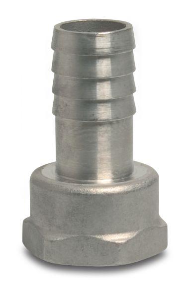 Schlauchtülle Edelstahl, 1/2 Zoll IG x 13mm, mit Sechskant
