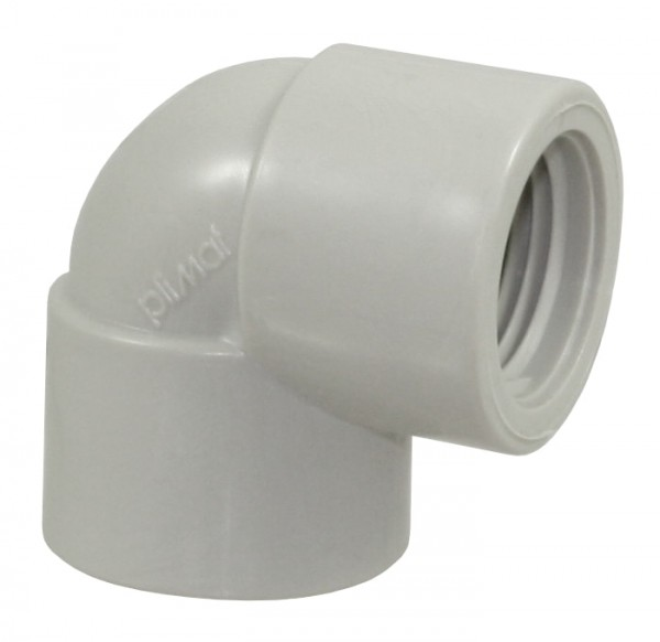 Winkel 90° PP, beidseitig 3/4 Zoll IG, PP-Winkel für Fittingrohre