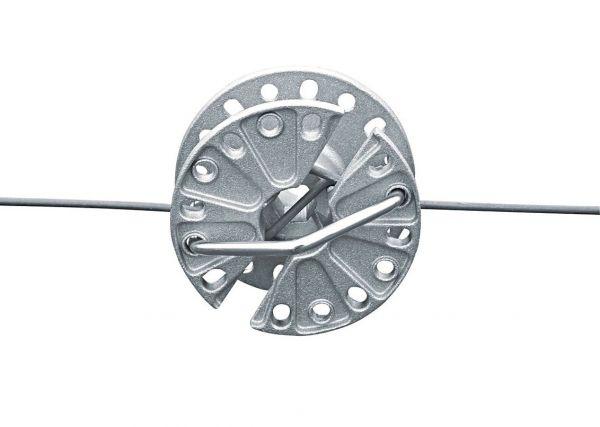 Drahtspanner drehbar, Aluminium, zum Spannen von Weidezaundraht