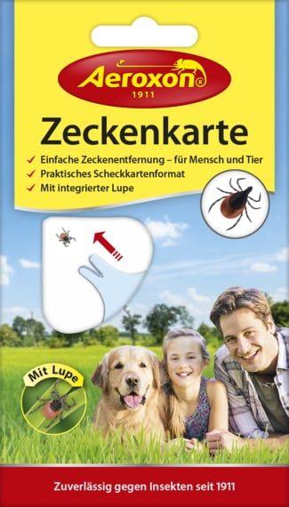 Aeroxon® Zeckenkarte mit Lupe, Zeckenschutz für Mensch und Tier im Scheckkartenformat