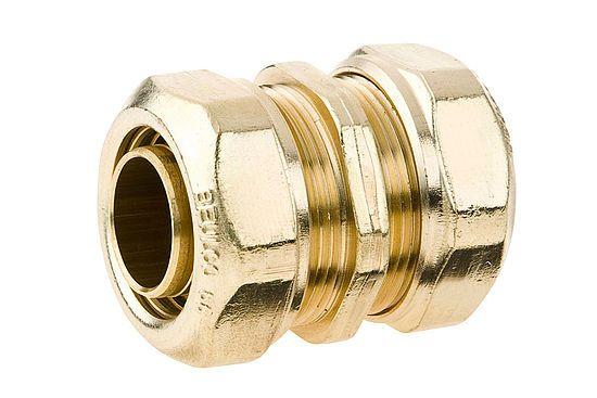 BEULCO Kupplung gerade 3/4 Zoll, 25x2,3mm, Verbindungskupplung mit 2 gleichen Rohranschlüssen