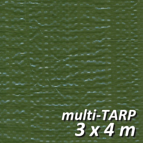 Lankotex® multi-TARP Standard 3x4m grün, Schutz- und Abdeckplane mit Aluminiumösen, HDPE / LDPE