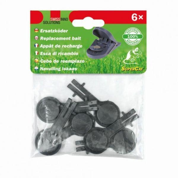 6x Swissinno® Ersatzköder für Mausefalle SuperCat, Naturköder Nachfüllset