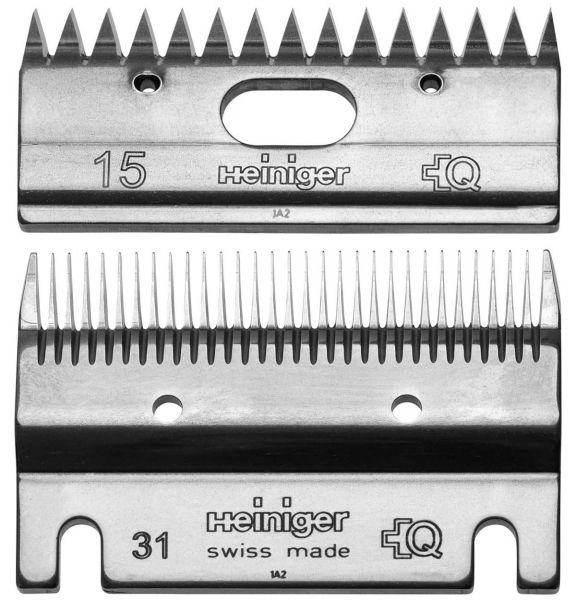 Heiniger Schermessersatz 31/15 Zähne, Standard Schermesser für Pferde