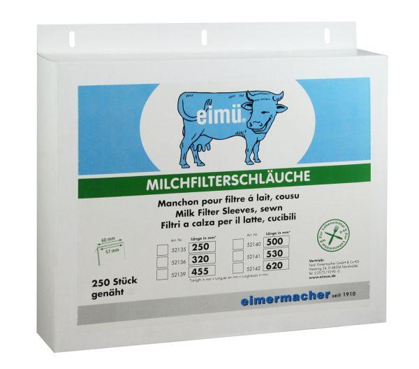 250x eimü® Milchfilterschläuche 250x57mm, genäht, Milchfilter für Melkmaschinen und Absauganlagen