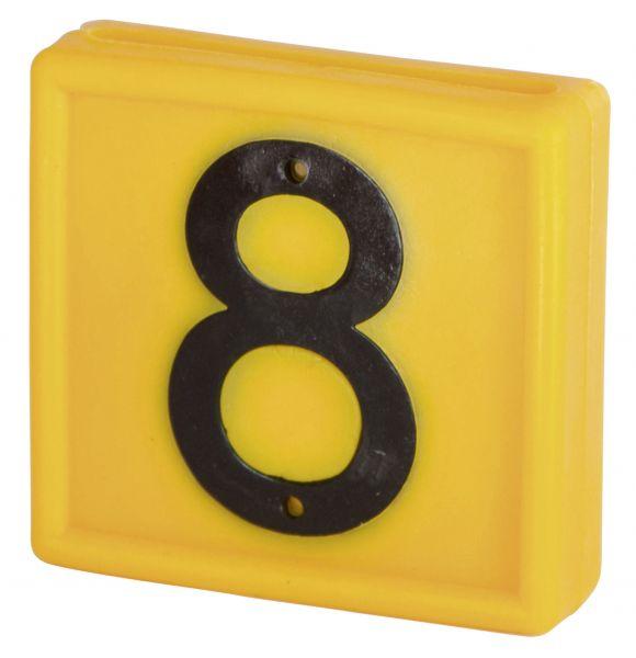 Nummernblock Standard, gelb, Block-Nummer: 8 (ACHT)