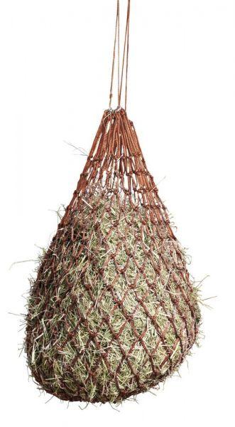 Heunetz engmaschig 5x5cm, rot, Futternetz für Pferde