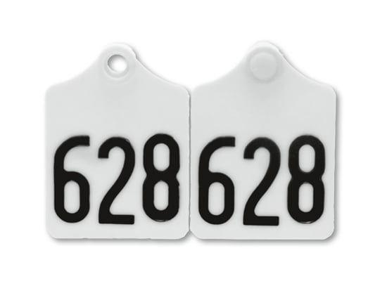 25x Primaflex Ohrmarken, Größe 2 (61x45mm), beidseitig geprägt, für Rinder und Kühe